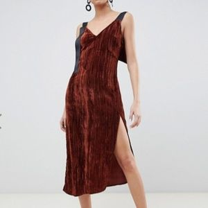 Asos Velvet Midi Dress Size 14